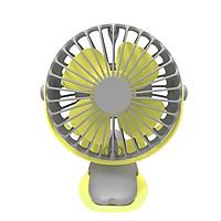 Quạt tích điện, quạt kẹp sạc mini cầm tay 4 cấp độ gió  xoay 360 dung lượng pin dùng liên tục 15-16 giờ