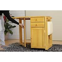 Bộ bàn học sinh xếp gọn có hộc tủ tiêu chuẩn xuất khẩu Hi Furniture