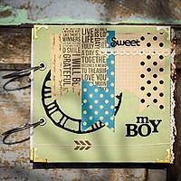 Album Handmade Bé Trai Sweet - My Boy (20 x 20 cm)