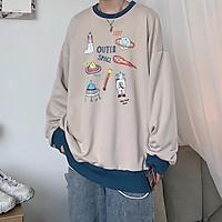 Áo sweater unisex form rộng 1987 nam nữ phong cách ulzzang Wind thu đông