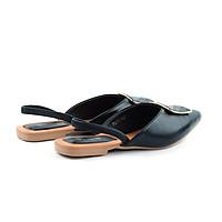 Giày búp bê Slingback mũi nhọn nơ khóa thời trang PABNO PN16010