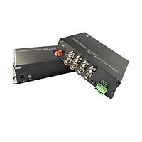 Bộ chuyển đổi Video sang quang 8 kênh GNETCOM HL-8V1D-20T/R-1080P (2 thiết bị,2 adapter,Cổng điều khiển) - Hàng Chính Hãng