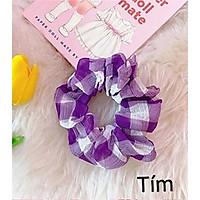 Cột (buộc) tóc scrunchies caro xinh xắn ( tùy chọn màu)