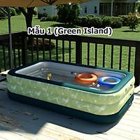 Bể bơi phao cho bé hồ bơi bơm hơi gia đình hàng cao cấp 3m 300x175x60cm