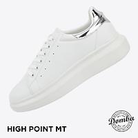 Giày Domba gót bạc ánh kim H-9116