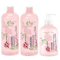 Combo 3 sản phẩm dầu gội & gel tắm & lotion dưỡng da chiết xuất Hoa Hồng Farmasi
