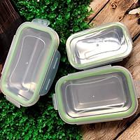 COMBO Bộ 3 Hộp BẢO QUẢN thực phẩm INOX 304 có NẮP. DỤng cụ đựng chứa trữ ĐA NĂNG trong tủ lạnh AN TOÀN SỨC KHOẺ đồ ăn luôn TƯƠI NGON CHUYÊN NGHIỆP