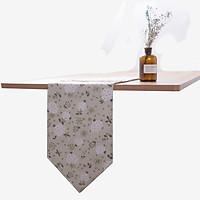Khăn trải bàn table runner vải bố - Cẩm tú cầu trắng - mẫu L10