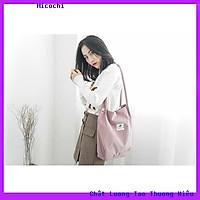 Túi Vải Tote Nữ Nhung Đeo Vai Style Hàn Quốc Dùng Đi Học Du Lịch Tiện Lợi TV02_micochi