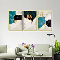 Bộ 3 tranh canvas treo tường Decor Họa tiết trừu tượng, phong cách hiện đại - DC149