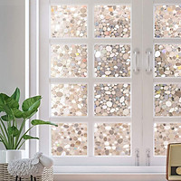 Static 3D Irregular Pebble Refraction Colorful Window Film for Home Office