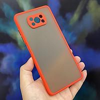 Ốp lưng cho Xiaomi Poco X3 NFC trong nhám viền màu che camera