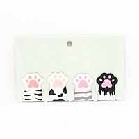 Bộ 4 Bookmark Magnet Mèo Cute - Mẫu ngẫu nhiên
