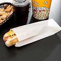 100 Túi Giấy Trắng Đựng Bánh Mì Satchel (Không đáy)