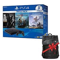 Máy chơi game PS4 Slim 1TB Mega Pack CUH-2218B MEGA + Quà tặng Balo PS4 cực chất - Hàng chính hãng