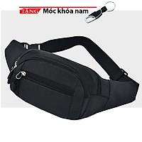 Túi đeo bao tử đeo bụng nam nữ đa năng du lịch Jogging  QA98 Tặng móc khóa nam