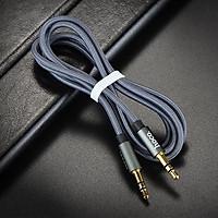 Cáp âm thanh Hoco gồm 2 đầu 3.5mm kết nối hệ thống loa mini với laptop dài 1m - Hàng chính hãng