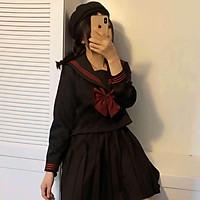 Bộ đồng phục nữ sinh dài tay phong cách Nhật Bản đáng yêu