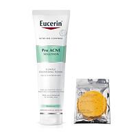 Sữa rửa mặt tạo bọt dịu nhẹ dành cho da mụn Eucerin Pro Acne Cleansing Foam 150g + tặng bọt biên rửa mặt