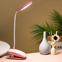 Đèn Bàn LED Kẹp Đầu Giường Đọc Sách Chống Cận Pin Sạc - Nhiều Màu