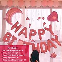 Bộ phụ kiện bóng trang trí sinh nhật Happy Birthday nhiều mẫu mới 2020