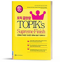 Sách - Công thức tuyệt đỉnh đạt TOPIK II - TOPIK's Supreme Finish