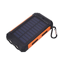 Solar Power Bank Battery Charger Portable Fast Charging Travel Compass Outdoor