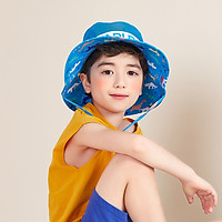 Kk tree kocotree children's parent-child hat summer visor boys and girls sun hat fisherman hat animal basin hat classic models - blue L [recommended age 8 years old - adult]