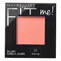 Phấn Má Hồng Mịn Lì Chuẩn Màu Maybelline Fit Me Blush - Màu 25 Pink 4,5g