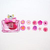 Combo 40 chiếc Sticker túi Mille Fleurs họa tiết chai nước hoa