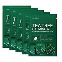 Combo 5 Mặt Nạ Chiết Xuất Tràm Trà Làm Dịu Da, Giảm Mụn Some By Mi Tea Tree Calming Sheet Mask 25g x5