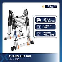 Thang nhôm rút đôi chữ a Nhật Bản HAKAWA HK256 (5,6M) - Phân phối chính hãng - Nhỏ gọn tiện lợi