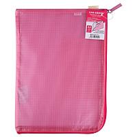 (KOKUYO) L-type zipper single-sided translucent grid file data storage bag A4 powder 2 loaded WSG-KUK111P