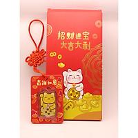 Bao Lì Xì Mèo Chiêu Tài 5D 0.1g Vàng 24k