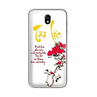 Ốp lưng dẻo cho điện thoại Samsung Galaxy J7 pro - J730 - 01054 7933 TAILOC02 - in chữ thư pháp Tài Lộc - Hàng Chính Hãng