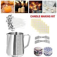 DIY gifts Candle Making Kit Gift Candles Craft Tool Set Pouring Pot Wicks Wax Gift