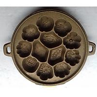 Khuôn bông lan, bánh thuẫn gang vàng 3kg6