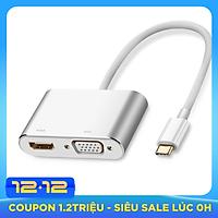 Cáp Chuyển Đổi USB Type-C Sang VGA HDMI 30843 (15cm)