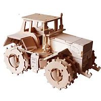 Mô hình lắp ghép 3D bằng gỗ Xe máy cày