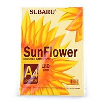 Giấy bìa màu A4 Subaru Sunflower BC-C03