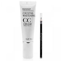 Combo Kem nền CC đa năng che khuyết điểm - Chì kẻ mí mắt không lem Crystal Eyeliner