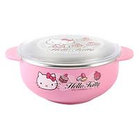 Bát Ăn Cho Bé Có Nắp Đậy Lock&Lock Hello Kitty Bằng Thép Không Gỉ LKT479 (13.1 x 10.5 x 5.5 cm) - Hồng