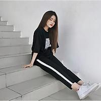 QUẦN BAGGY 1 SỌC THỂ THAO NỮ