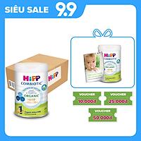 Thùng 6 lon sữa bột dinh dưỡng công thức HiPP 1 Organic Combiotic chất lượng hữu cơ, hỗ trợ, tăng cường sức khoẻ hệ miễn dịch, bổ sung omega 3,6 (DHA&ARA) dành cho trẻ dưới 6 tháng tuổi (6 lon x 800g)