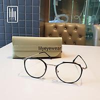 Gọng kính cận nam nữ Lilyeyewear mắt đa giác , thiết kế đặc biệt , mắt nhựa phối gọng 8854