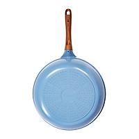 Chảo đúc sâu lòng vân đá ceramic chống dính cao cấp 28cm (dùng được tất cả các bếp, kể cả bếp từ) - Hàng chính hãng