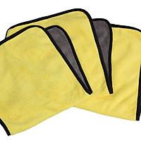 Combo 3 khăn lau xe chuyên dụng Microfiber siêu hút nước