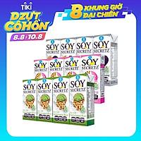 Combo 3 Lốc Sữa Đậu Nành Soy Secretz Mix 3 Vị Mè Đen, Collagen, Gạo Mầm Nhập Khẩu Chính Hãng Thái Lan