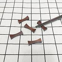 Bộ 5 gác đũa gỗ TRẮC hình Nơ 4,5cm- Tiện dụng và sang trọng trên bàn ăn (E8)