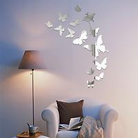 Bộ decal dán tường trang trí 3D sáng tạo cao cấp (M1) 14 bướm